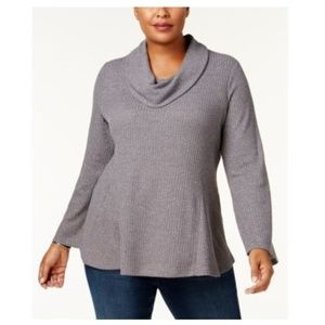 Style & Co. Cowl Neck Metallic Pullover Sweater